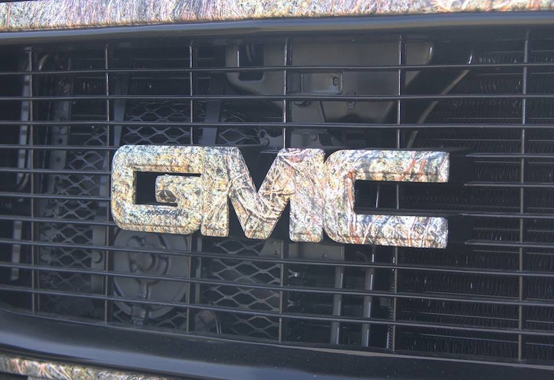 Camo Chevy Emblem Outline