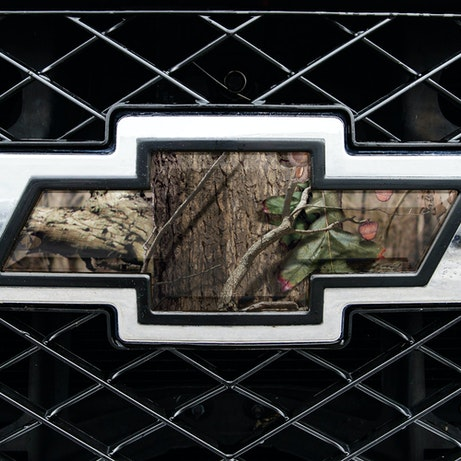 Camo Chevy Bowtie Ford Jeep Ram Emblem Mossy Oak Graphics Mossy