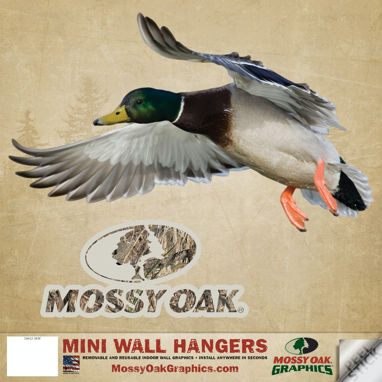 Mossy Oak Graphics Mallard Left   Mini Cutout