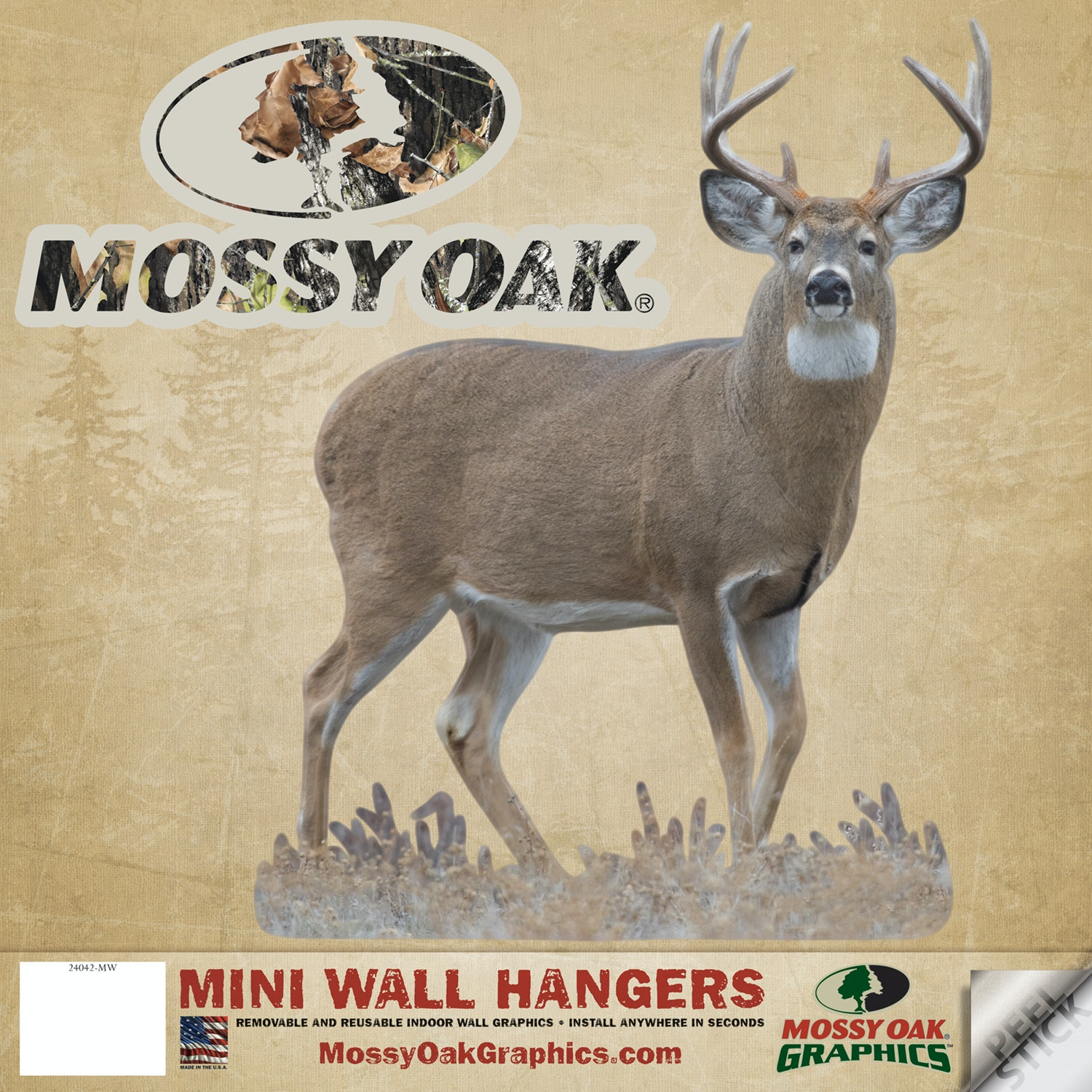 Superior Mossy Oak Graphics Buck Big Eight   Mini Cutout