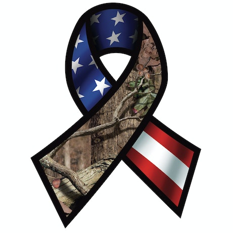 Support Our Troops Ribbon Usa Decal Mossy Oak Graphics