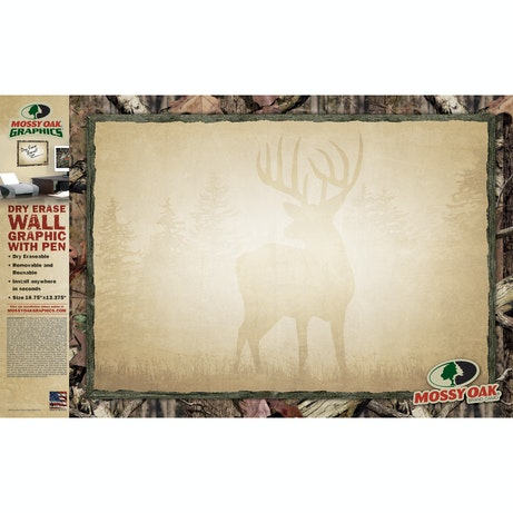 Dry Erase Board With Camo Border Mossy Oak Graphics