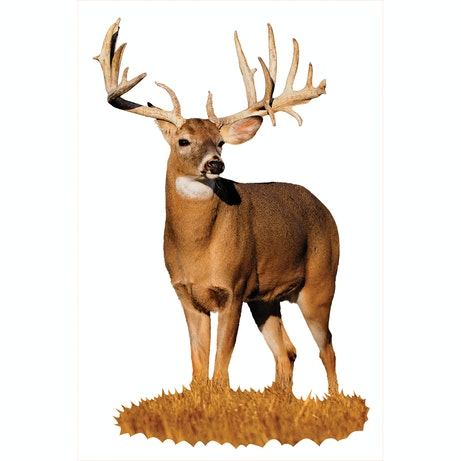 Whitetail Buck With Left Drop Tine Cutout Mossy Oak